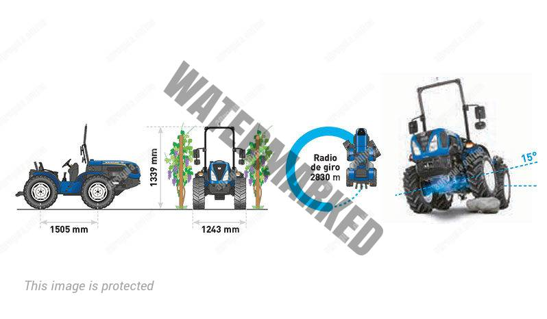 New Holland 4.80. Serie TI 4 lleno