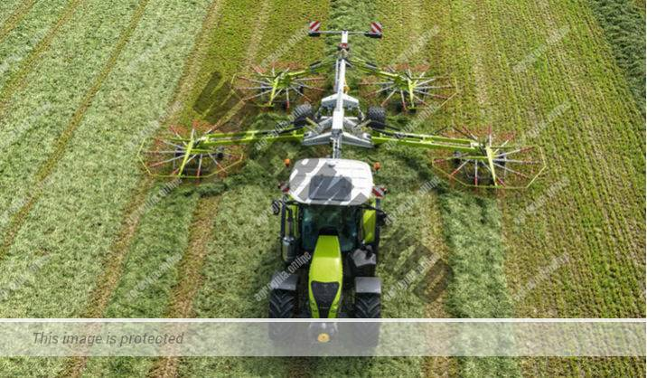 Claas Arion 660. Serie Arion 600 lleno