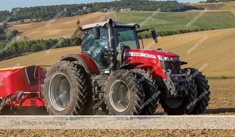 Massey Ferguson 8740 S. Serie MF 8700 S lleno
